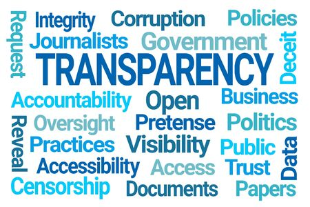 Transparency Word Cloud on White Background