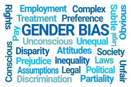 Gender Bias Word Cloud on White Background Stock fotó