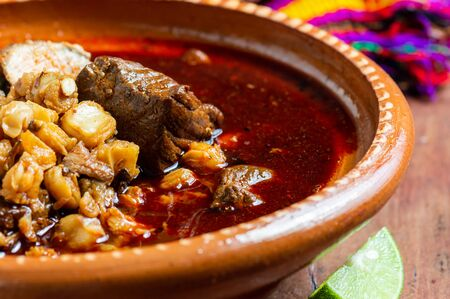 Mexican Red Pozole, Traditional Pork and Hominy Stew