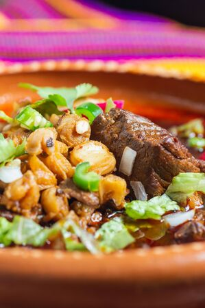 Mexican Red Pozole, Pork and Hominy Stew