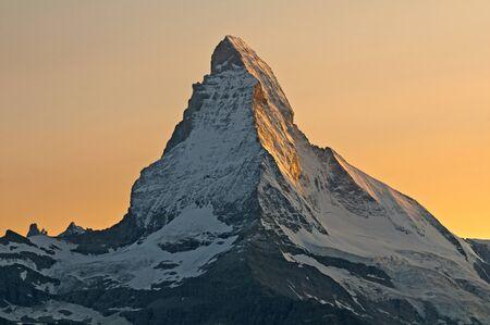 warms: The sun warms the walls of the Matterhorn