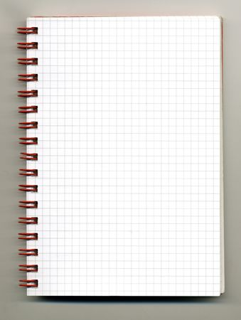 Open spiral notebook on gray backround Stock Photo - 8010696