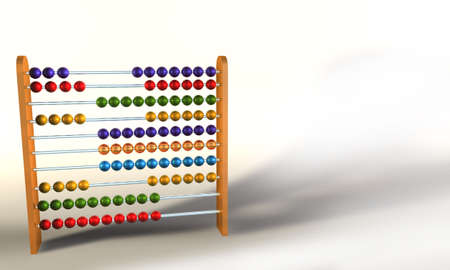 Colored Abacus on white background Stock Photo