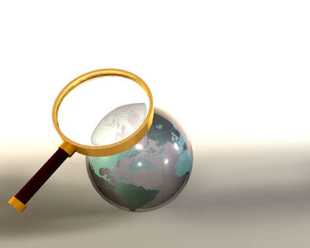 Lens magnifying glass globe sphere photo