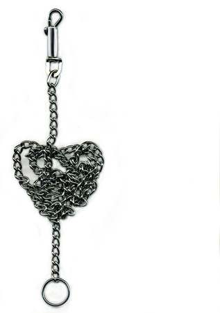 chain rolled up on shape of a heart Stock Photo - 8654288
