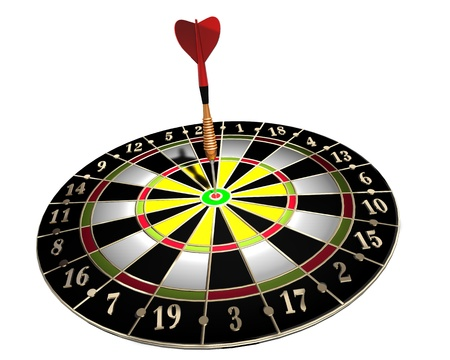 3d illustration of dart board on white background Stock Illustration - 8744911