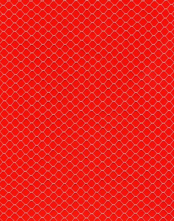 Image of textile net on red background