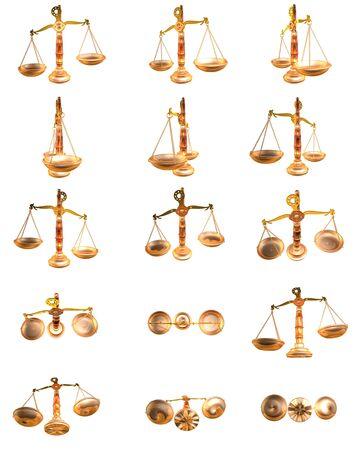 3d illustration of a scales multiple views