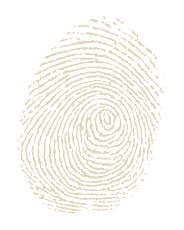 Illustration of fingerprint on white background Vector