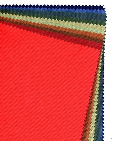 Closer image of textile sampler on white background