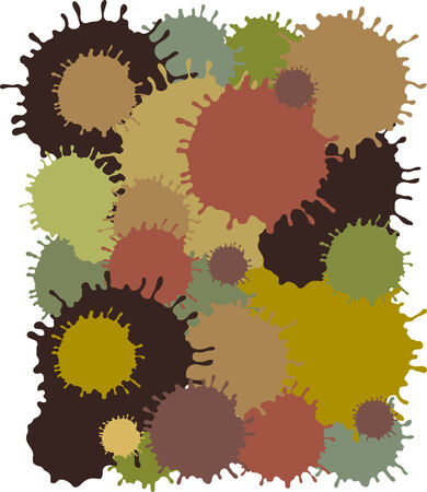 illustration of mud blots on white background Vector