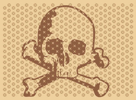 illustration of Skull and cross bones (variant) Vector