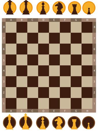 illustration of chess board on white background Illustration