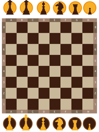defocussed: illustration of chess board on white background Illustration