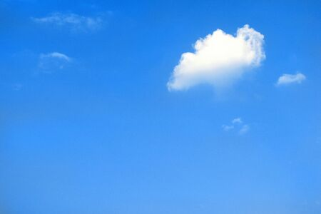 White little cloud in blue sky Stock Photo - 9180617