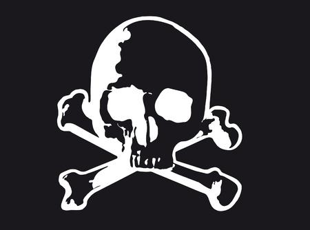 Vector illustration of Skull and cross bones (variant) Illustration