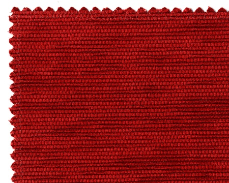 Closer image of textile sample on white background Stock Photo