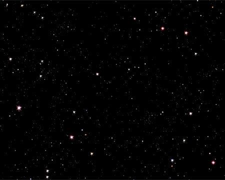 Illustration of a starry sky night scene Stock Photo