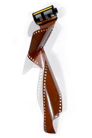 gigabytes: Film roll 35mm over white background