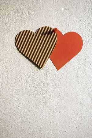 lustful: Paper hearts pinned on the wall