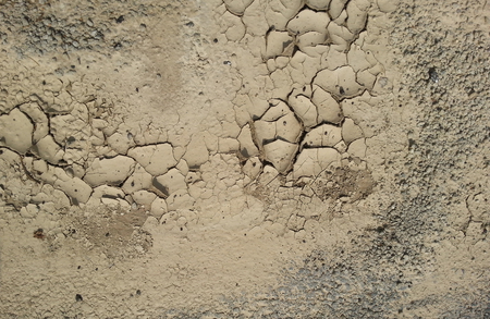 evaporate: Closeup of dry, cracked ground in drought conditions