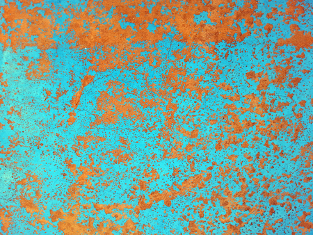 Old grunge metal plate with rust spots Stock Photo