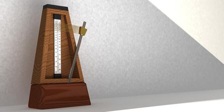 metronome: Illustration of metronome with pendulum in motion Stock Photo
