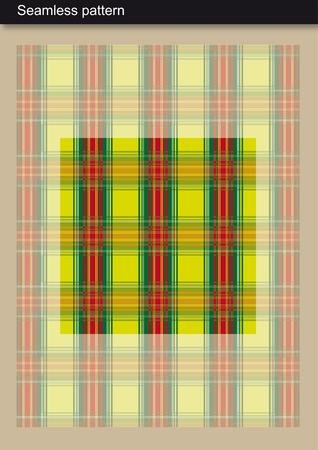 Seamless Pattern - Green Tartan Scottish-inspired design