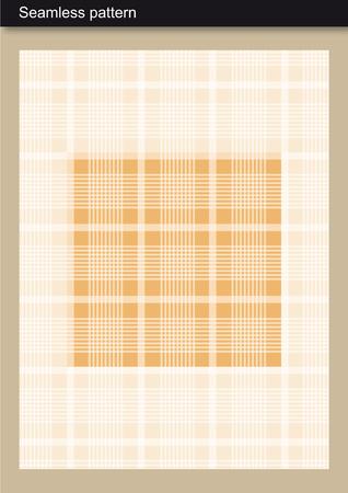 Seamless Pattern - Neutral Tartan Scottish-inspired design