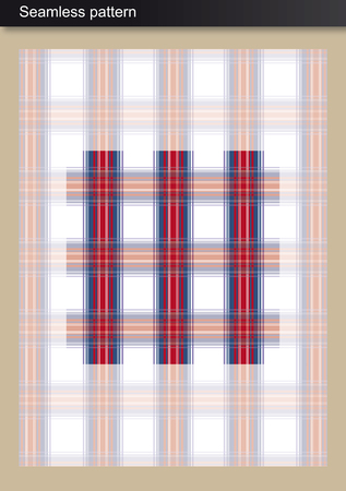 Seamless Pattern - Violet Tartan Scottish-inspired design