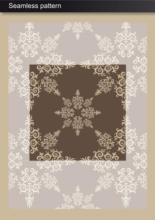 Seamless Pattern - Damask inspired design