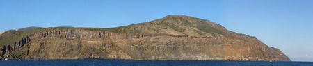 Panoramic shot of Vulcano Island - Messina - Sicily - Italy Stock Photo