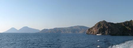 tyrrhenian: Panoramic shot of Lipari Island (harbor) - Messina - Sicily - Italy