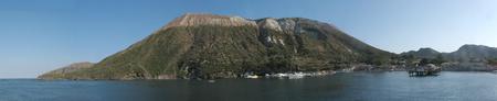 Panoramic shot of Vulcano Island (harbor) - Messina - Sicily - Italy