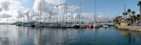 Panoramic shot of Alghero's harbor