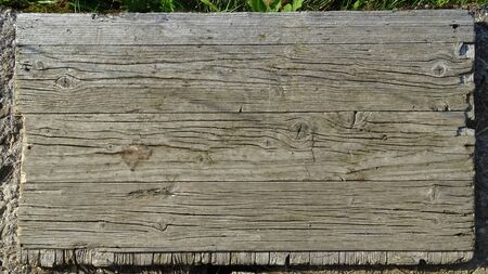 Image of old wooden discolored planks