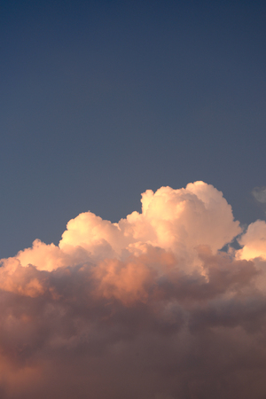 Pink clouds in a storm sky Stock Photo