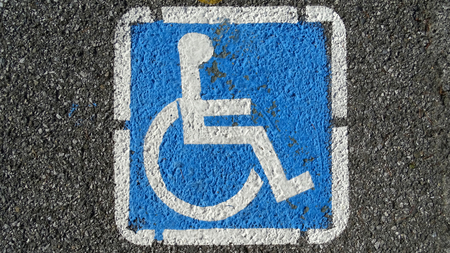 Parking place for handicapped                                Stock Photo