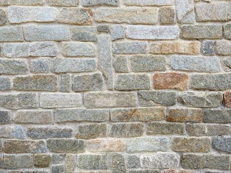 Closeup of an old stone wall (background) Stock Photo