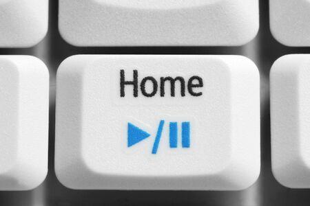 home key: Inicio tecla teclado port�til, en la macro.