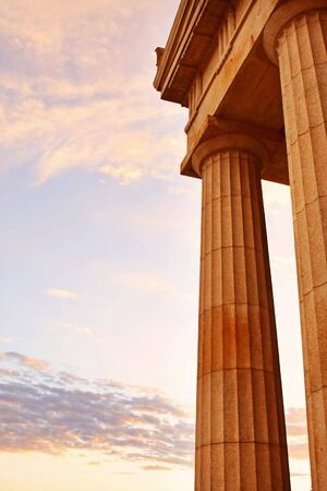 the majesty: Columns at dawn.  Strength and majesty.