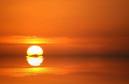 abstracted: Golden sunset, abstracted.  Sunset over Kuta Beach, Bali, Indonesia. Stock Photo