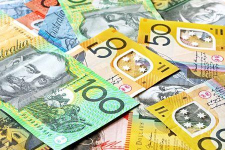 20: Australia antecedentes dinero. Las notas incluyen $ 100, $ 50, $ 20 y $ 10.