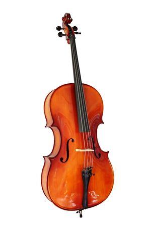cello: Violoncello, isolato su bianco Archivio Fotografico
