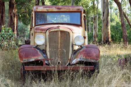 Vintage pick-up truck, abandoned in the Australian bush. Stock Photo - 2577713