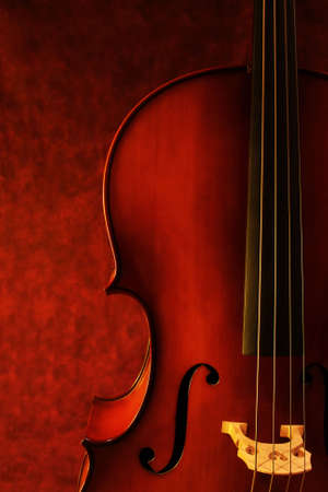 enhance: Cello, against canvas background.  Luscious warm tones enhance the beauty of this instrument.