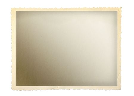 photograph: Vintage photo frame with scalloped edge.