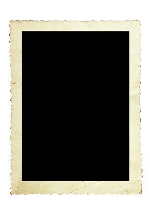 Millésime cadre photo, avec scalloped de pointe, isolé sur blanc.