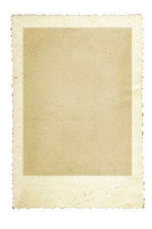 festonati: Vintage Photo Frame con scalloped bordo, isolato su bianco.