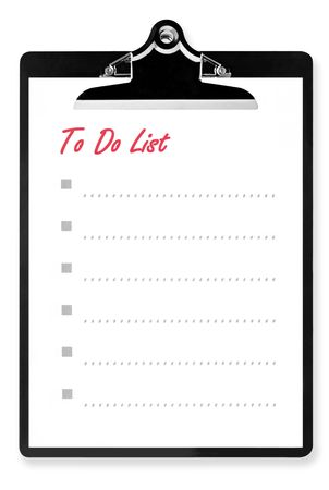 To Do List on clipboard, with room for your text. photo